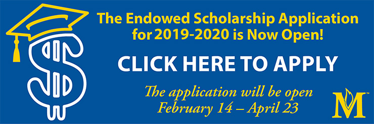 Access the 2018-2019 Endowed Scholarship Application
