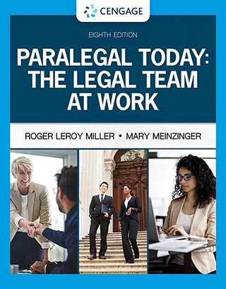 Cover to the textbook: Paralegal Today